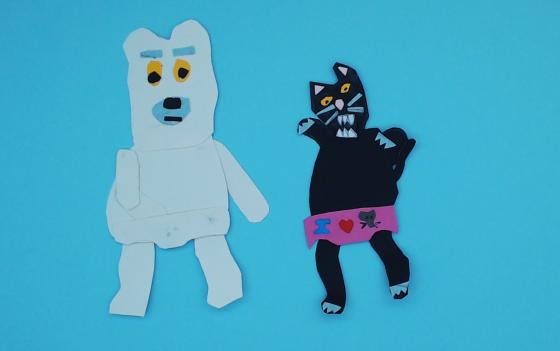 gatto e orso
