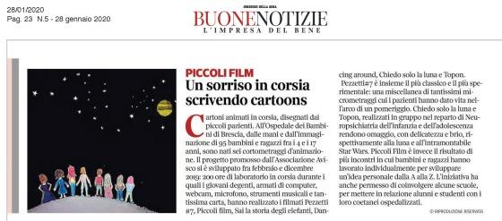 Corriere della Sera - Buone Notizie 28 genn 2020